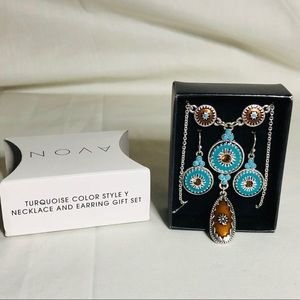 "Avon Jewelry - Avon ""Y"" necklace and earring set"